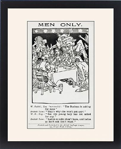 Framed Print Of Satire On The Call For More Rights For Women