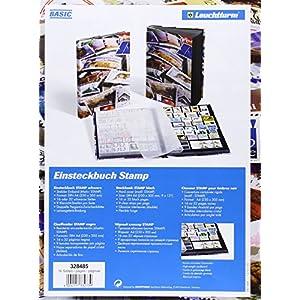 Briefmarken Einsteckbuch STAMP DIN A4, 16 schwarze Seiten