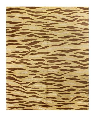 "Bashian Rugs Hand-Knotted Tibetan Rug, Gold, 7' 9"" x 9' 9"""