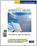 img - for Intro Math Analysis for Business, Economics, and the Life and Social Sciences, Books a la Carte Edition (12th Edition) book / textbook / text book