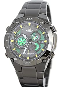 Casio EQWM1100DC-1A2 Mens Edifice Black Label Solar Multi-Band Atomic Alarm Chronograph Link Bracelet