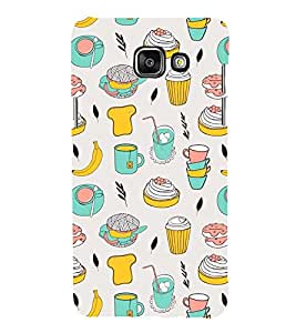 Animated food pattern 3D Hard Polycarbonate Designer Back Case Cover for Samsung Galaxy A5 2016 :: Samsung Galaxy A5 2016 Duos :: Samsung Galaxy A5 2016 A510F A510M A510FD A5100 A510Y :: Samsung Galaxy A5 A510 2016 Edition
