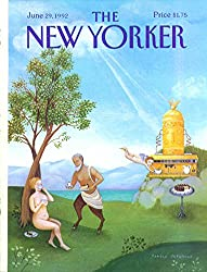 Yorker cover Paparone satyr serves nude espresso from huge machine 6/29 1992