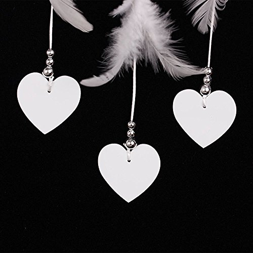 Dream catcher, Soledi Handmade Dream Catcher White Heart Shape with Feathers Wall Hanging Decoration Decor Ornament Craft Gift