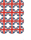 12 Union Jack rice paper fairy / cup cake 40mm toppers pre cut decoration