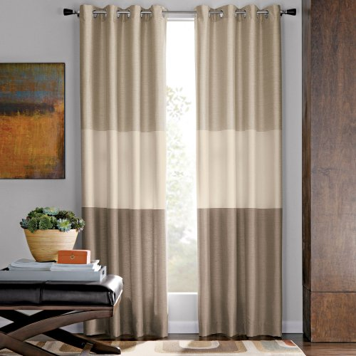 Amazon.com Studio Trio Grommet Top Curtain Panel, Hot Chili Multi ...