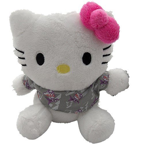"Hello Kitty ""Grey T"" Plush Soft Toy 15Cm"