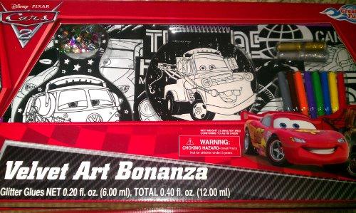 Disney Pixar Cars 2 Velvet Art Bonanza