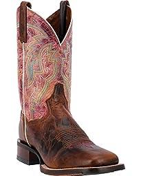 Dan Post Men\'s Cowboy Certified Teton Boot Square Toe Chestnut 11.5 EE US