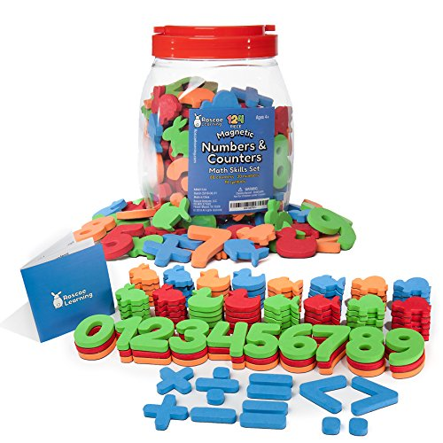 Roscoe Learning 124 Piece Magnetic Numbers and Counters Math Skills Set (Math Learning Centers compare prices)