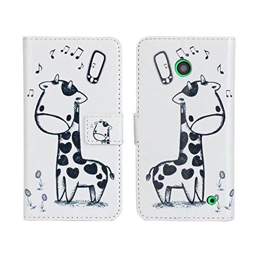 TOOPOOT(TM) Magnetic Giraffe Print Leather Case For Nokia Lumia 630 635 toopoot tm magnetic giraffe print leather case for nokia lumia 630 635