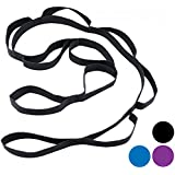 Wacces Yoga Strap Stretch Restore Multi-Grip Fitness Pilates Stretching Belt Multicolor