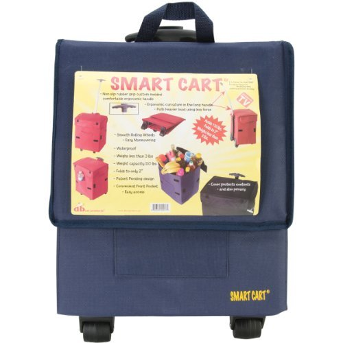smart-cart-blue-rolling-multipurpose-collapsible-basket-cart-scrapbooking-by-dbest-products