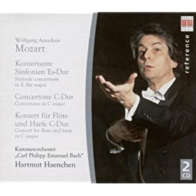 Wolfgang Amadeus Mozart: Sinfonia concertantes, K. 297b and 364 / Concerto for Flute and Harp / Concertone, K. 190