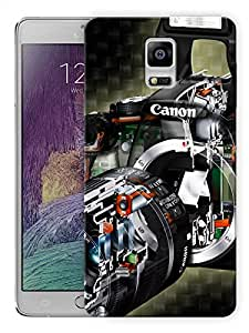 "Humor Gang Canon Camera Life Printed Designer Mobile Back Cover For ""Samsung Galaxy Note 4"" (3D, Matte, Premium Quality Snap On Case)"