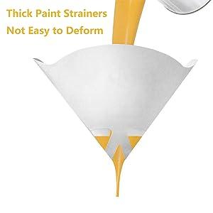 100 Pcs 100 Micron Paint Strainers Paint Filters, Terberl 100 Micron Paint Filter Cone Funnel Filter with Nylon Mesh - Paint, Automotive