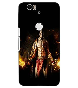 PrintDhaba Warrior D-2123 Back Case Cover for HUAWEI NEXUS 6P (Multi-Coloured)