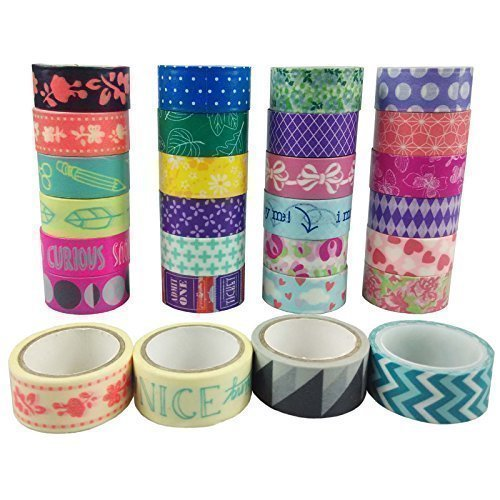 MOEUP 10pcs Washi Masking Tapes Sets DIY Scrapbooking Sticker