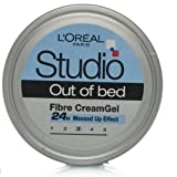 L'Oreal Studio Out Of Bed Fiber Cream Gel 150ml 24hrs Massed Up Effect
