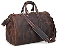 Tiding Men's Genuine Leather Travel Bag