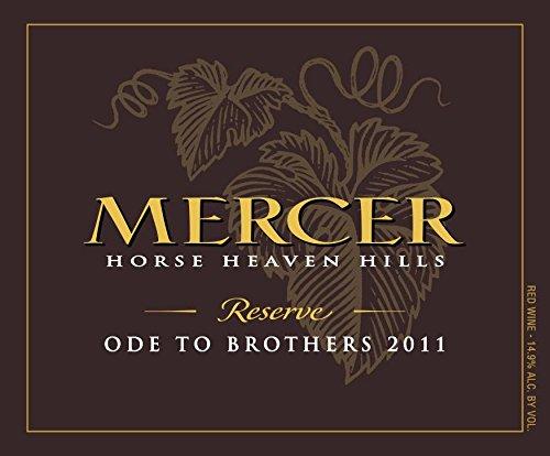 "2011 Mercer Estates ""Ode To Brothers"" Horse Heaven Hills Rhone Blend Reserve 750 Ml"