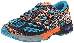 ASICS Gel Noosa Tri 10 GS Triathlon Shoe (Little Kid/Big Kid), Enamel Blue/Black/Orange, 4.5 M US Big Kid
