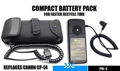 JJC FB-1 External Flash Battery Pack for Canon 600EX-RT 580EX 580EX II 550EX 540EZ MR-14EX MT-24EX YONGNUO YN-560IIISpeedlite Flash Units