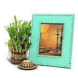 Giftsbymeeta Lucky Bamboo N Photo Frame Gifts for Diwali
