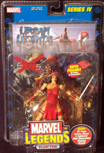 Buy Low Price Toy Biz Marvel Legends Series 4 Elektra Figure (B001T54SLW)