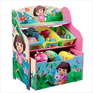 Nickelodeons Dora The Explorer 10th Anniversary 3 Tier Organizer And Toy Box from Delta Children's Products