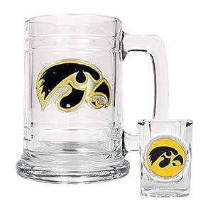 University of Iowa Hawkeyes Beer Mug & Shot Glass Set