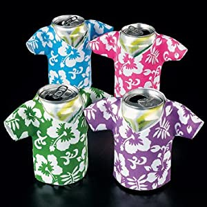 Click to buy Foam Hawaiian Shirt Can Coolio's Coolers - Tiki Luau Koozie Time! (12)from Amazon!