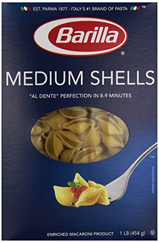 Barilla Medium Shells - 16 oz (Basketball Pasta compare prices)