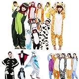 FIODAY Tier Onesie Pyjama Kostüme Schlafanzug Erwachsene Unisex Tieroutfit tierkostüme Jumpsuit