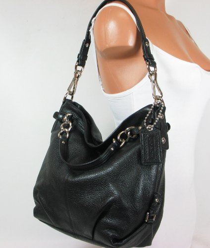 Coach Leather Brooke Shoulder Hobo Bag Purse 14142 Black 36