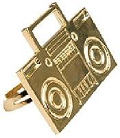 80s Rapper Costume Gold Boom Box Ghetto Blaster Ring by Rubie's Costume