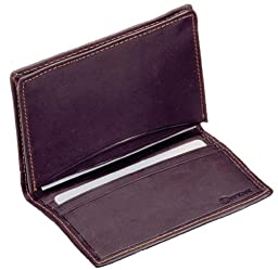 Winn Drum-Dyed Napa Leather Bi-Fold Credit/Business Card Case, Black