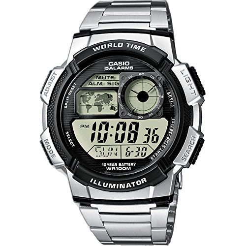 Casio Ae-1000Wd-1AVEF Mens Combi Bracelet Watch