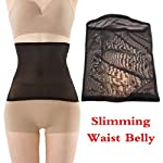 Vktech Slimming Corset Ultrathin Black Invisible Tummy Shaper Waist Belly Band Slimming Corset Staylace