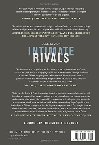 Intimate Rivals: Japanese Domestic Politics and a Rising China (A Council on Foreign Relations Book)