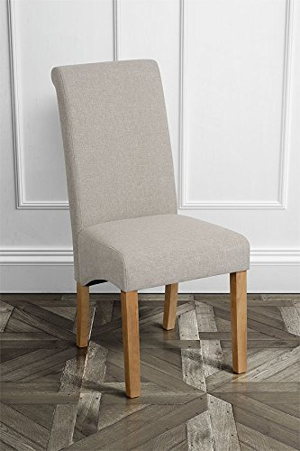 MY-Furniture - Conjunto de dos sillas de comedor AMALFI - Avena