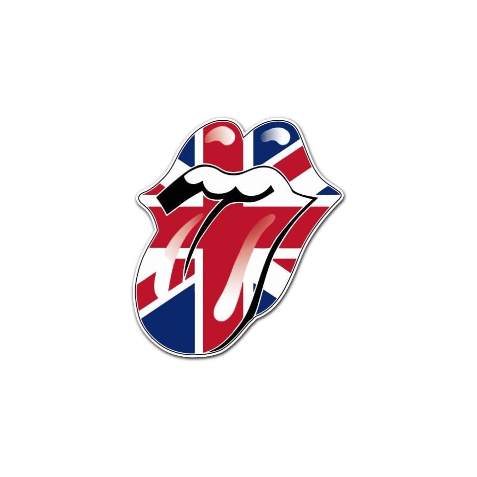 Rolling Stones England Flag Rock Band Car Bumper Sticker Decal 4.5x4