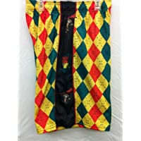 Flow Society Authentic Lacrosse Gear Rasta Argyle Green/Yellow/Red Lax Mesh Short Adult Small