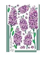 Ambience Live Vinilo Decorativo Iris romantic flowers Multicolor