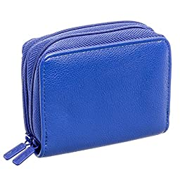 Buxton Womens RFID Identity Safe Card Wizard Wallet (Cobalt Blue)