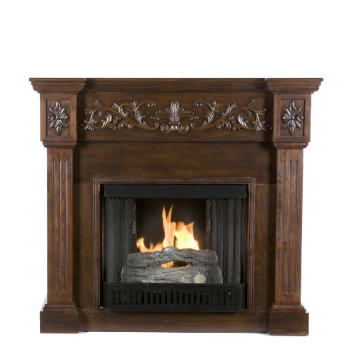Sei Calvert Gel Fuel Fireplace, Espresso
