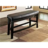 Ashley Furniture Signature Design Emory Double UPH Stool, Dark Brown Finish