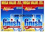 Finish All In 1 Powerball Dishwasher Tablets (168 Lemon Sparkle Tablets)