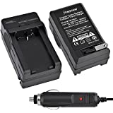 Insten® Compact Battery Charger Set Compatible with Kodak KLIC-8000 Digital Camera