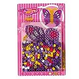 Hama 8908 - Maxiperlenset Schmetterling, circa 250 Bügelperlen, eine Stiftplatte und ein Bügelpapier hergestellt von Hama
